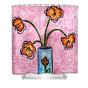 Funky Flowers Shower Curtain