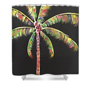 Funky Palm Tree Shower Curtain