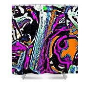 Funky Pop-14 Shower Curtain