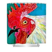 Funky Rooster Shower Curtain