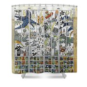 Funky/thought-provoking Public Art, Dk Shower Curtain