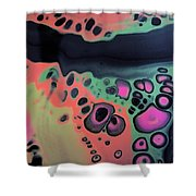 Funky Time Shower Curtain