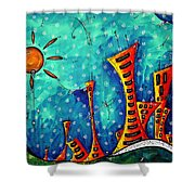 Funky Town Original Madart Painting Shower Curtain