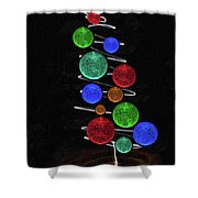 Funky Tree Shower Curtain