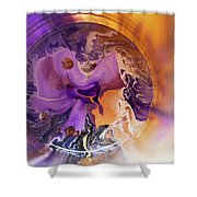 Funnel Of Time Shower Curtain