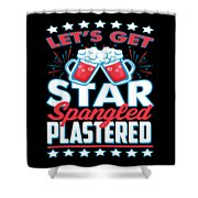 Funny Alcohol Fireworks Fourth July Gift 4th July Independence Day Shower Curtain