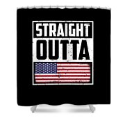 Funny American Flag Fourth July Gift 4th July Independence Day Shower Curtain