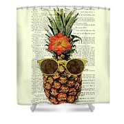 Funny And Cute Pineapple Art Shower Curtain