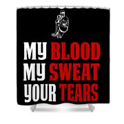 Funny Baseball Pitcher Design My Blood Shower Curtain