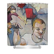 Funny Couple Shower Curtain