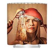 Funny Creative Cooking Pinup Girl Shower Curtain