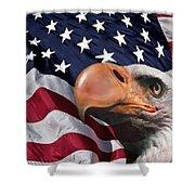 Funny Flag Shower Curtain