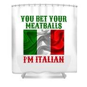 Funny Italian Flag Shower Curtain