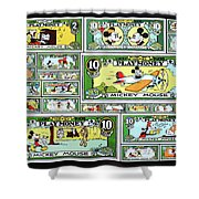 Funny Money Collage Shower Curtain