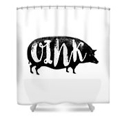 Funny Oink Pig Shower Curtain