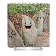 Funny Rocks Shower Curtain