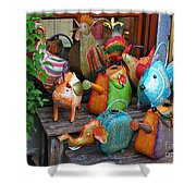Funny Watering Cans Shower Curtain