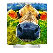 Funnycow Shower Curtain