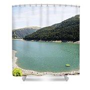 Funsingau Dam Near Gerlos Shower Curtain