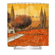 fuoco di Toscana Shower Curtain by Guido Borelli