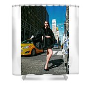 Fur-st Avenue Shower Curtain