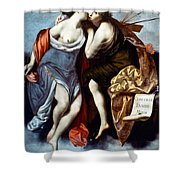 Furini: Muses, 17th Century Shower Curtain