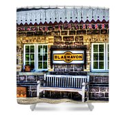 Furnace Sidings Railway Station 3 Shower Curtain