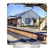 Furnace Sidings Railway Station Shower Curtain