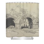 Furness Abbey East  29 August 1836 By Edward Lear  1836 Shower Curtain