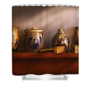 Furniture - Shelf - Family Heirlooms  Shower Curtain