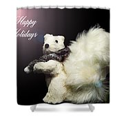 Furry Holiday Shower Curtain