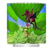 Fury Flying Dragon Shower Curtain