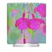Fuchsia Flower Abstract Shower Curtain