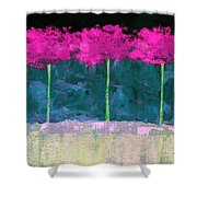 Fuschia Trees Shower Curtain