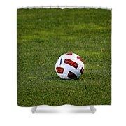 Futbol Shower Curtain by Laddie Halupa