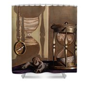 Futility Shower Curtain by Break The Silhouette