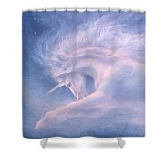 Future Dreaming Unicorn Shower Curtain
