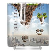 Future Idealism Shower Curtain by Solomon Barroa