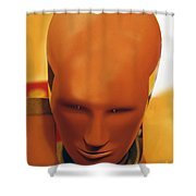 Future Man Shower Curtain