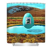 Future Tense Shower Curtain