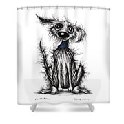 Fuzzy Dog Shower Curtain