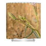 Fuzzy Flower Shower Curtain
