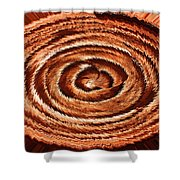 Fuzzy Rock Abstract Shower Curtain