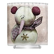 Fuzzy The Snowman Shower Curtain