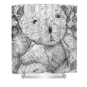 Fuzzy Wuzzy Bear  Shower Curtain