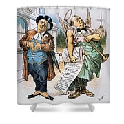 G. Cleveland Cartoon, 1892 Shower Curtain