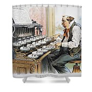 G. Cleveland Cartoon, 1893 Shower Curtain