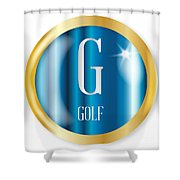 G For Golf Shower Curtain