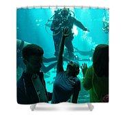 Ga Aquarium Scuba Shower Curtain
