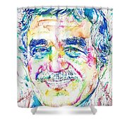 Gabriel Garcia Marquez - Portrait.2 Shower Curtain